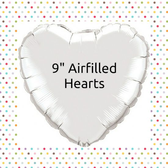"Qualatex 9"" Airfilled Solid Colour Hearts"